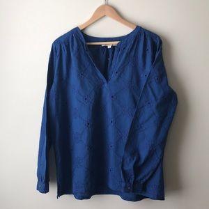 Loft royal blue tunic